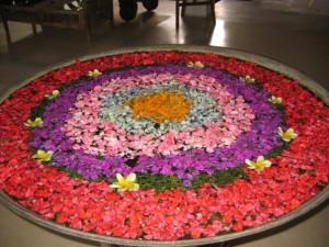 Typical Balinese flower decoration....goddess abundance all around!