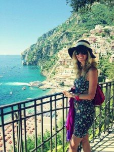 Posing at Positano, Italy